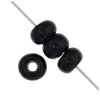 1/0 Rocaille 6.6mm Opaque black/marble